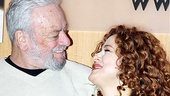 """The one and only Sally Durant."" Stephen Sondheim and longtime muse Bernadette Peters enjoy a tender moment."