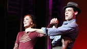Laura Osnes and Jeremy Jordan take a bow after lighting up the stage as Bonnie Parker and Clyde Barrow.