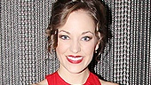 Glamour shot! Leading lady Laura Osnes shines like a true Broadway star on opening night.