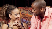 "Tracie Thomas as Taylor and Dulé Hill as Kent ""Spoon"" in Stick Fly."