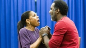 "Audra McDonald and Norm Lewis wow the rehearsal audience with their rendition of ""Bess, You Is My Woman Now."""