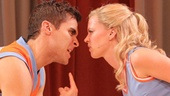 Josh Segarra as Mick and Patti Murin as Lysistrata Jones in Lysistrata Jones.