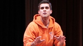Josh Segarra as Mick and cast in Lysistrata Jones.