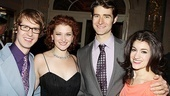 Cast members David Turner, Kerry O'Malley, Drew Gehling and Sarah Stiles pose for a group shot.