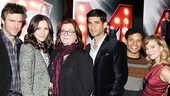 Jack Davenport, Katharine McPhee, Smash creator Theresa Rebeck, Raza Jaffrey, Jaime Cepero and Savannah Wise come in close for a flashy photo.