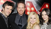 Smash's Jack Davenport, Megan Hilty and Katharine McPhee pose with NBC Entertainment Chairman Robert Greenblatt on the big night.
