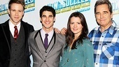 Darren Criss and Beau Bridges pose with new castmates Christopher J. Hanke and Rose Hemingway.