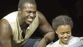Joshua Henry as Jake and Nikki Renee Daniels as Clara in Porgy and Bess.