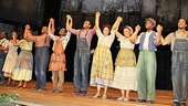 The cast of Porgy and Bess basks in the glow of opening night.