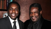 Joshua Henry and Roosevelt Andre Credit celebrate Porgy and Bess journey from A.R.T. in Boston to the Richard Rodgers Theatre in New York.