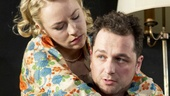 Sarah Goldberg as Alison Porter and Matthew Rhys as Jimmy Porter in Look Back in Anger.