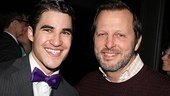 Darren Criss hangs out after his final performance with director/choreographer Rob Ashford.