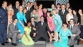 The How to Succeed company celebrates Darren Criss' final performance.