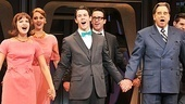 Jonas and Urie join cast members Rose Hemingway, Shannon Lewis, Timothy J. Alex and Beau Bridges at curtain call.