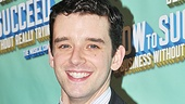 Michael Urie celebrates a successful first performance.