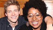 Hunter Parrish and Celisse Henderson practice what they preach in Godspell and show love to their fellow man.