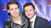 Max von Essen (r.) takes a break from Evita rehearsals to enjoy a night out with friend Michael Burbach.