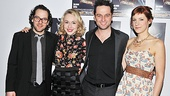 Director Sam Gold takes a celebratory photo with Look Back in Anger stars Sarah Goldberg, Matthew Rhys and Charlotte Parry. Head to the Laura Pels Theatre to see this passionate drama!