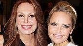 Marlo Thomas, who won raves this season on Broadway in Relatively Speaking, congratulates Kristin Chenoweth.