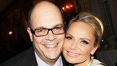 Brad Oscar shares a pic with Kristin Chenoweth before taking the stage in a comic bit as a frustrated director.