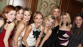 A bevy of Broadway beauties are on hand to take part in the musical program honoring a delighted Kristin Chenoweth.