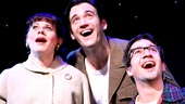 Celia Kennan-Bolger as Mary Flynn, Collin Donnell as Franklin Shepard and Lin-Manuel Miranda a Charley Kringas in Merrily We Roll Along.