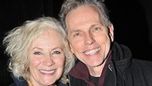 Betty Buckley shares a happy snapshot backstage at the Lucille Lortel with Carrie lyricist Dean Pitchford.
