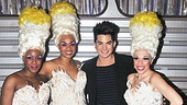 Adam Lambert enjoys the celebration at Priscilla Queen of the Desert. Get your tickets now to join the glitzy and glamorous party happening nightly at the Palace Theatre!