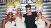 Priscilla Divas Anastacia McCleskey, Jacqueline B. Arnold, and Ellyn Marie Marsh welcome pop star Adam Lambert to the Palace Theatre.