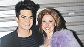 Adam Lambert made a special trip to Broadway to support Priscilla cast member Julie Reiber, who appeared with him in the L.A. company of Wicked in 2008.