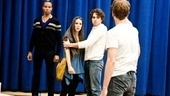 In Rehearsal with Jesus Christ Superstar  Marcus Nance  Chilina Kennedy  Josh Young  Paul Nolan 