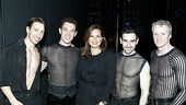Emmy winner Mariska Hargitay looks perfectly at home with handsome Chicago guys Adam Zotovich, Amos Wolff, Brian Spitulnik and Brian O'Brien.