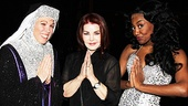 What do you think she's praying for? Mother Superior (Carolee Carmello) and Deloris Van Cartier (Patina Miller) show Presley their signature Sister Act move.