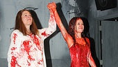 Carrie stars Marin Mazzie and Molly Ranson, though a bit bloody, are still radiant as they take their opening night bows.
