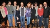 Cast members Russell Harvard, Susan Pourfar, Gayle Rankin, Will Brill, Mare Winningham and Jeff Perry pose for a photo with Anna Goldwyn, Tony Goldwyn, Sam Rockwell and Jessica Hecht—see Tribes at the Barrow Street Theatre!