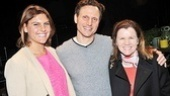 Tony Goldwyn and his daughter Anna congratulate Tribes star Mare Winningham, who co-starred with Goldwyn in the 1996 film The Boys Next Door.