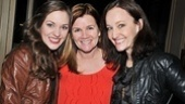 Its a Bonnie & Clyde reunion for Laura Osnes, Mare Winningham and Melissa van der Schyff, who co-starred in the La Jolla Playhouse production before it headed to Broadway. 