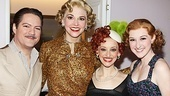 Anything Goes co-stars Robert Petkoff, Jessica Stone and Erin Mackey are ready for the final performance of Sutton Foster as Reno.
