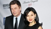30 Rock star Alec Baldwin and his girlfriend Hilaria Thomas enjoy the gala.