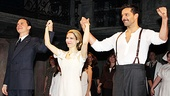 Michael Cerveris, Elena Roger and Ricky Martin feel the love from the audience at the first performance of Evita.