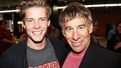 Two shows on Broadway, birthday cake and a Godspell star like Hunter Parrish add up to one happy birthday for Stephen Schwartz. Cheers, Stephen!