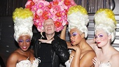 Designer Jean Paul Gaultier brings French haute couture to Palace Theatre. Here, the designer demonstrates the proper way to model a floral headdress with Priscilla divas Anastacia McCleskey, Jacqueline B. Arnold and Lisa Howard. 