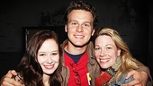 Jonathan Groff takes a moment to congratulate the stars of Carrie, Molly Ranson and Marin Mazzie.