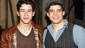 Newsies - Nick Jonas Visit  Nick Jonas  Jeremy Jordan