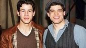 Newsies - Nick Jonas Visit – Nick Jonas – Jeremy Jordan