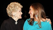 No wonder Andrea Burns is smiling: She's chatting with Elaine Stritch!