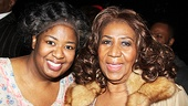 NaTasha Yvette Williams is thrilled to meet a singing inspiration, Aretha Franklin.