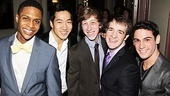 Newsies  Opening Night  Ephraim Sykes  Alex Wong  Ryan Breslin  Evan Kasprzak  Tommy Bracco