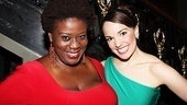 The ladies of Newsies, Capathia Jenkins and Kara Lindsay, look stunning on opening night.