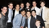 Newsies  Opening Night  Tommy Bracco  Jeremy Jordan  Alex Wong  Aaron J. Albano  Michael Fatica  Garett Hawe  Thayne Jasperson  Jess LeProtto  Ryan Steele  Brendon Stimson  Mike Faist